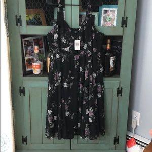 NWT Black floral Torrid dress